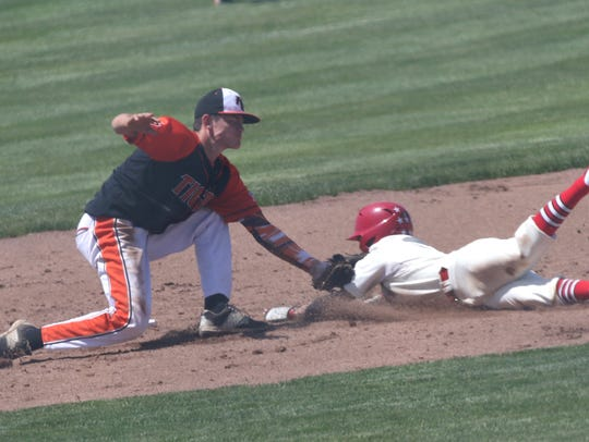 Plymouth's Walker Elliott was named Male Athlete of the Week after stealing five bases in a win.