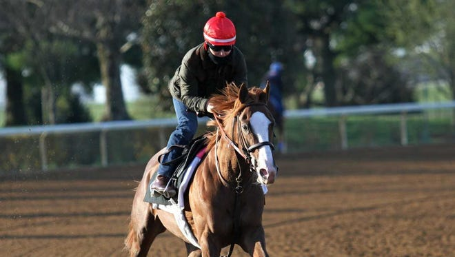 Free Drop Billy on the track at Keeneland on April 6.