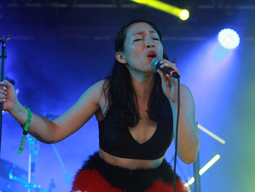 Yukimi Nagano of Little Dragon performs at the 13th Bonnaroo Music  & Arts Festival on Sunday, June 15, in Manchester, Tenn.