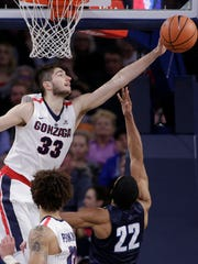 Sophomore forward Killian Tillie, of France, has been a steady force on both ends this year for Gonzaga.
