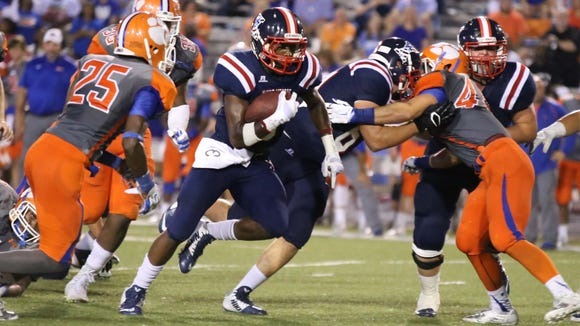 West Monroe takes on Madison Central in football action