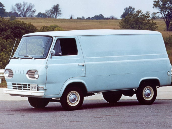 The original Econoline was rolled out in 1960 as a 1961 model and was aimed to take on the new Chevrolet Corvan and the Dodge van.