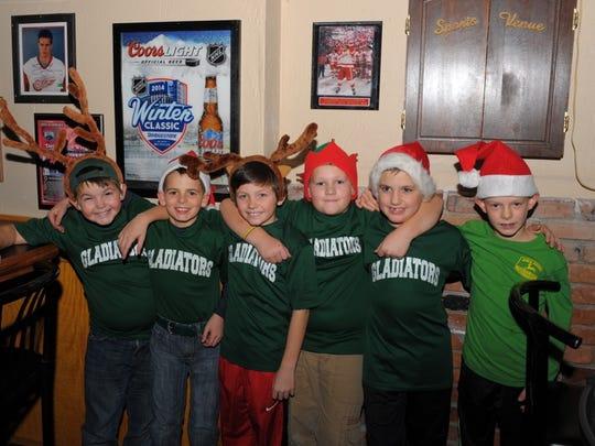 Members of the Gladiators Garden City baseball team