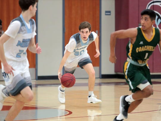 Rattler Wes Lynch, number 30, in action against Coachella