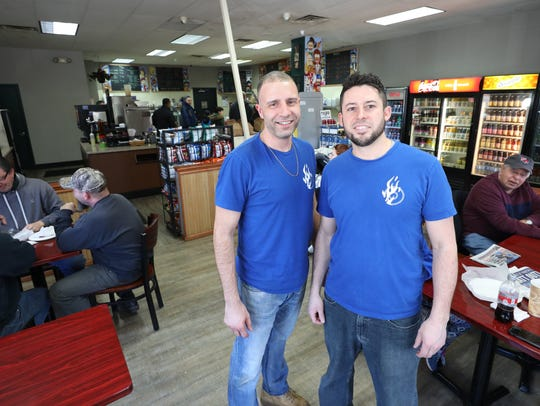 "Owners Michael ""Claudio"" Kienle and Greg Scavelli at JV Hot Bagels II in Shrub Oak. The two are opening their first Putnam County bagel shop in Brewster called Brewster Hot Bagels."