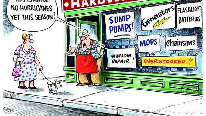 Dave Granlund hurricane cartoon