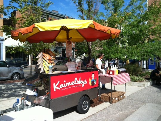 Kaimelsky's is a sausage and hot dog cart that sets up at festivals and events.