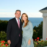 """Jane Seymour and Christopher Reeve in """"Somewhere in Time"""" filmed at the Grand Hotel on Mackinac Island."""