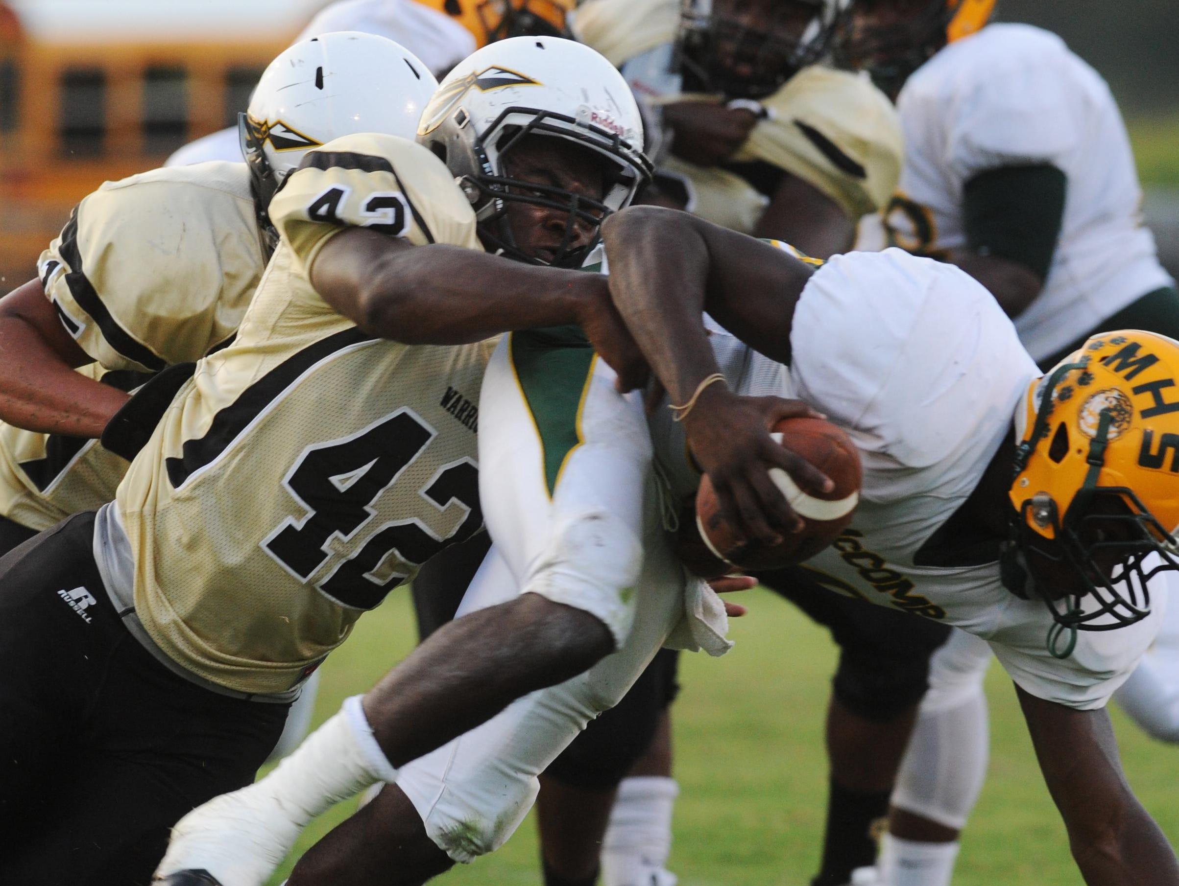 Oak Grove defensive end Deontae Haynes had a team-high 143 tackles last season.