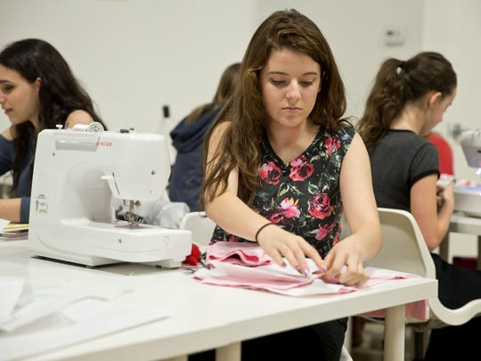 Karen's School of Fashion student Katia Giovannetto,
