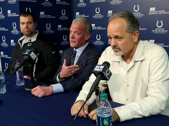 "The key four words at last year's press conference announcing the extensions of Ryan Grigson and Chuck Pagano? ""Chained at the hip."""