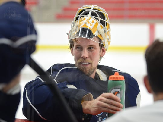 Goaltender Anders Lindback, who spent parts of the 2010-'11 and 2011-'12 seasons as an Admiral, is back in camp with the team.