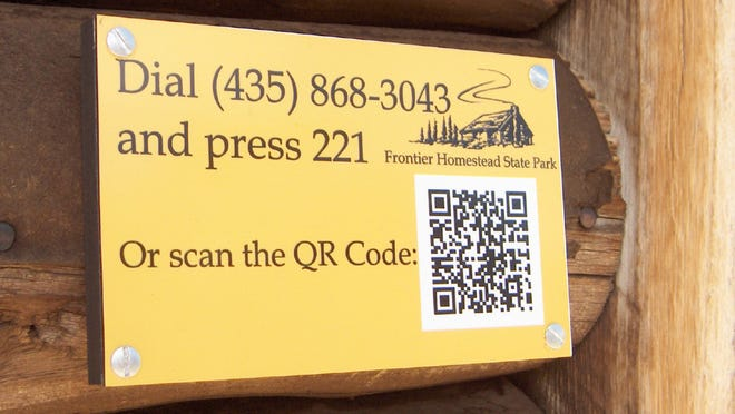 An example of the new QR codes featuring the new mobile tour at Frontier Homestead State Park in Cedar City.
