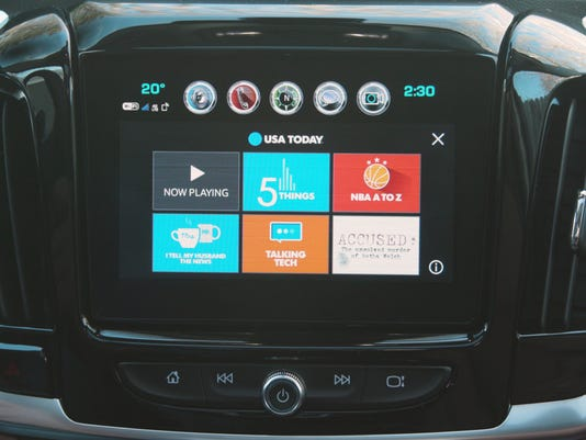 USA TODAY's GM Connected Car Dashboard