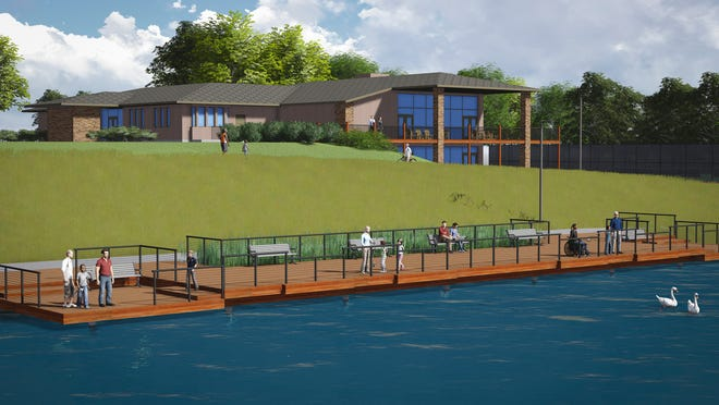 Construction is beginning in spring 2015 for the fishing pier portion of the Terra Lake project in Johnston.