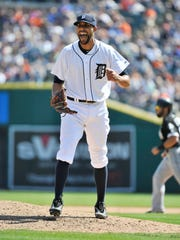 David Price, the Tigers' ace lefty, helped himself with the glove three times in the victory