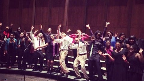 The FSU gospel choir is confident that their performance at the Opperman Hall will inspire the crowd.