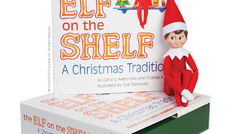 Book packaging image for 'The Elf on the Shelf.'