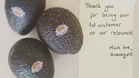 Avocados delivered to your door. Sure, why not.