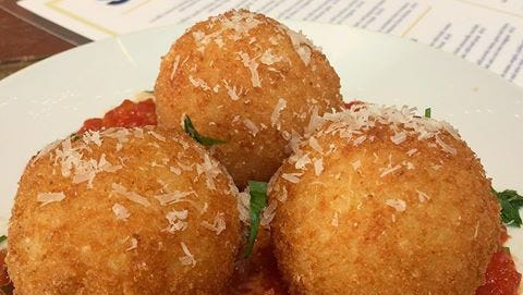 Rice balls made to order at Suprema in Rutherford