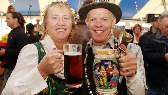 Joyce and Larry Ladwig of Howards Grove came dressed for the part at Oktoberfest at Al and Al's Stein Haus Saturday, Oct. 4, 2014, in Sheboygan.