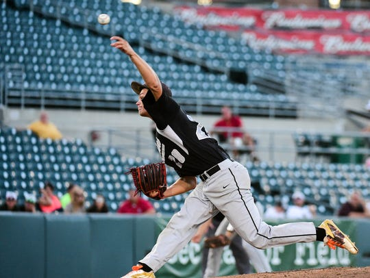 Former C-M-B pitcher Brady Stover helped the Raiders reach the Class 2A state baseball tournament in 2016.
