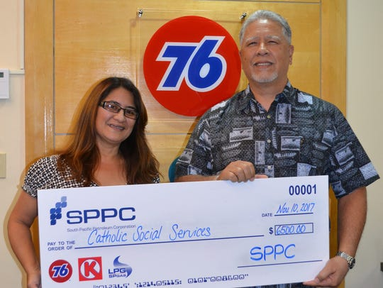 South Pacific Petroleum Corporation presented a check