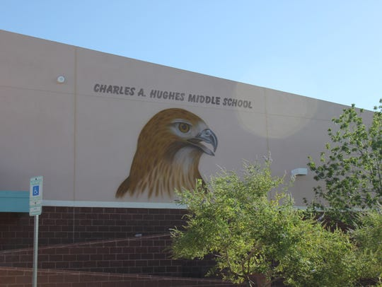 Charles Arthur Hughes Middle School in Mesquite.