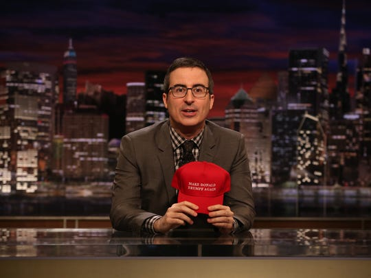 "HBO's ""Last Week Tonight"" and its host John Oliver sold satirical ""Make America Drumpf Again"" hats in June."