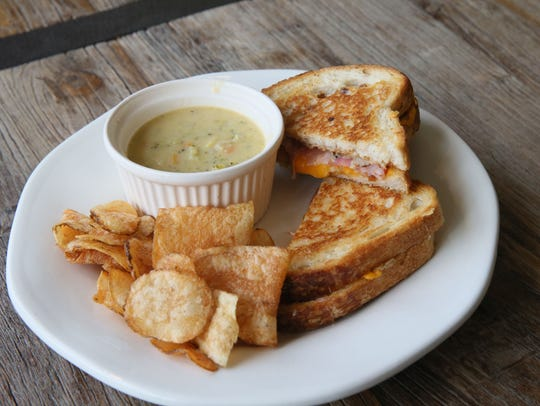 The Village Cheese Shop grilled cheese sandwich is