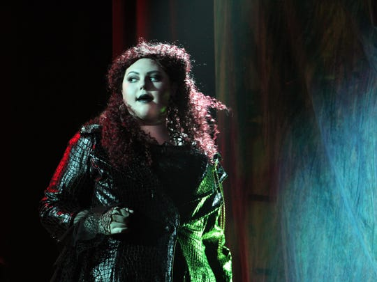 """Nora Vellis plays The Leading Player in """"Pippin"""" for the Historic Paramount Theatre."""