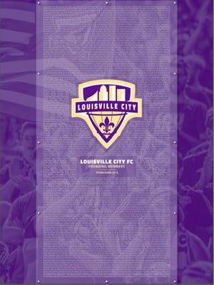 Louisville City FC's founding memers plaque.