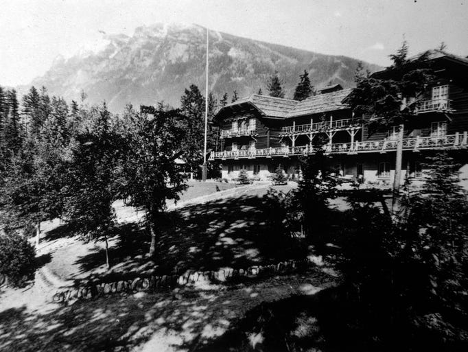 Lake McDonald Lodge, ca. 1930.