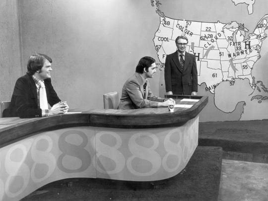 In this 1970s photo, Chet Coppock (from left), Mike