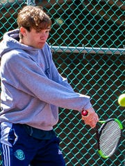 Mountain Lakes junior Sammy Eden competes in a first
