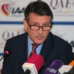 This file photo taken on January 22, 2016 shows International Association of Athletics Federations (IAAF) President Sebastian Coe speaking during a press conference in Doha.