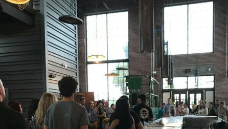 New employees of American Icon Brewery got their first look Monday at the new gastropub and brewery in downtown Vero Beach