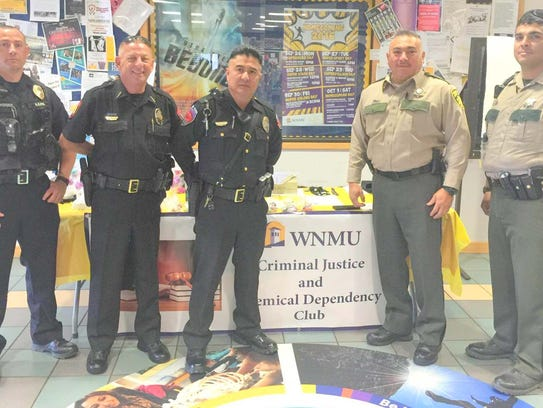 Area law enforcement helped the WNMU Criminal Justice