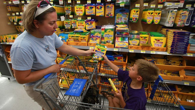 Shoppers will be loading up on back-to-school supplies as the new school year approaches.
