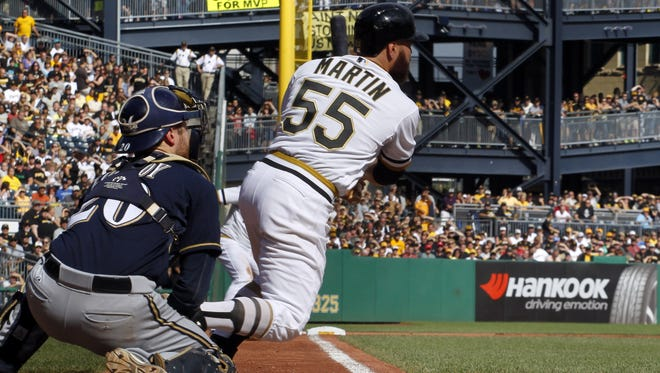 Pirates catcher Russell Martin drove in the game's lone run with an RBI single in the seventh inning.
