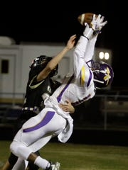 Amite wide receiver Devonta Lee comes down with a two-point
