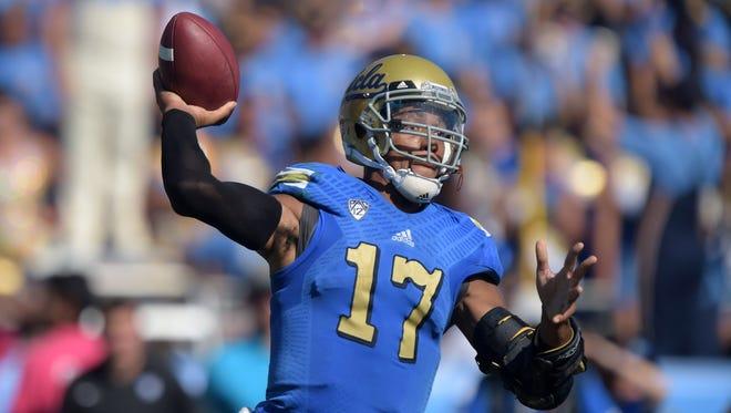 UCLA quarterback Brett Hundley, the Green Bay Packers' fifth-round draft pick on Saturday.
