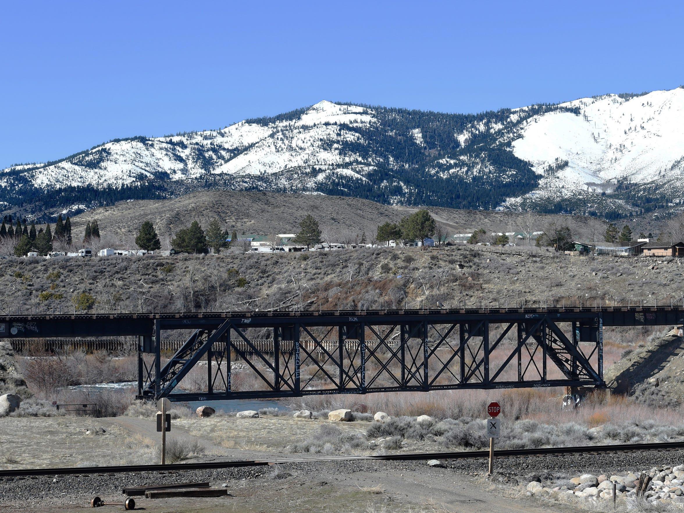 Both railroad tracks near the I-80 in Verdi. Photographed