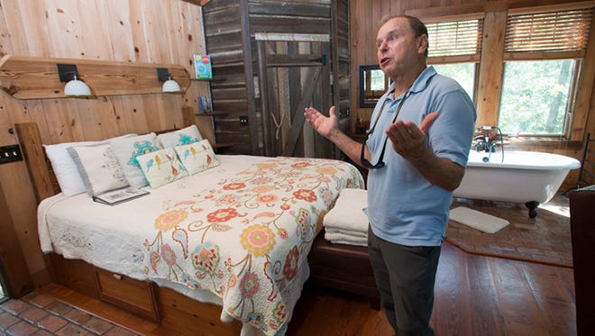 Jack Sanborn, co-owner of Adventures Unlimited in Milton, talks about his business in this file photo.
