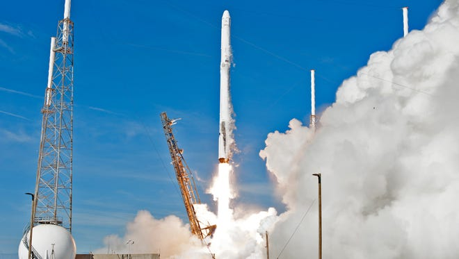 A SpaceX rocket blasts off Friday from Cape Canaveral in Florida, filled with cargo for the International Space Station including mustard seeds for a unique experiment by UW-Madison astrobotanist Simon Gilroy in growing plants in zero gravity.