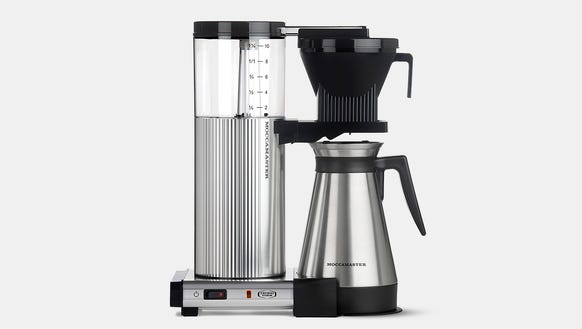 The Moccamaster 10-Cup coffee brewer on a rare sale.