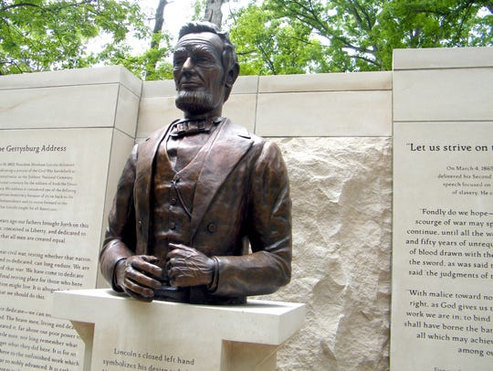 The Abraham Lincoln bust that was unveiled at Lincoln