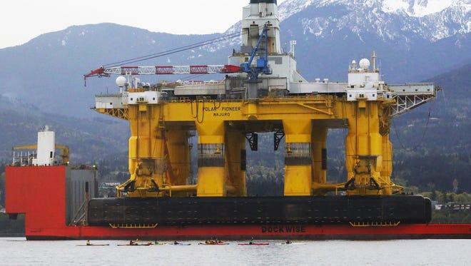 Shell's massive Arctic drill rig, the 400-foot Polar Pioneer.