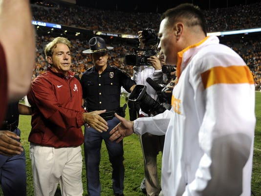 Nick Saban Butch Jones