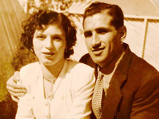 The late Nazem Amine and his first wife in an undated